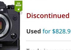 富士フイルムのX-H1が海外の販売サイトでディスコンと掲載されている模様。ただし、X-H2は2020年には発売されない!?