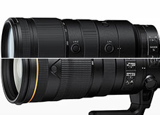 「NIKKOR Z 70-200mm f/2.8 VR S」「AF-S NIKKOR 120-300mm f/2.8E FL ED SR VR」
