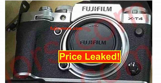 富士フイルムX-T4の価格は価格は1700ドル!?
