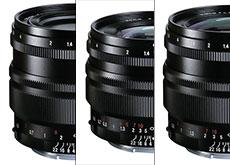 「NOKTON 35mm F1.2 Aspherical SE E-mount」「NOKTON 40mm F1.2 Aspherical SE E-mount」「NOKTON 50mm F1.2 Aspherical SE E-mount」