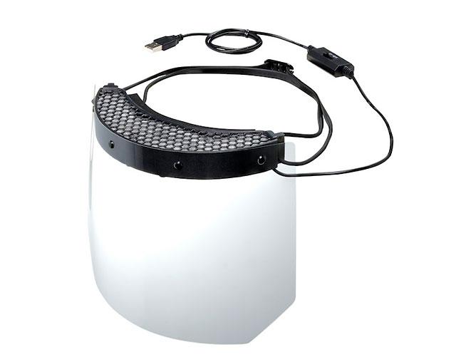 キヤノンが暑さ対策のファン付きバイザーを開発した模様。