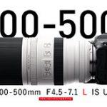 キヤノンが「RF100-500mm F4.5-7.1 L IS STM」を正式発表。エクステンダー「EXTENDER RF1.4x」「EXTENDER RF2.0x」も。