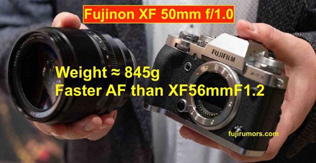 富士フイルム「XF50mmF1.0 R WR」は、XF56mmF1.2 RよりAFが高速だが倍の重さになる!?