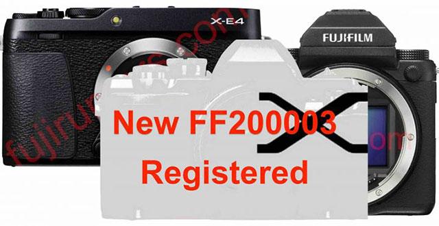 富士フイルムが登録した未発表デジカメ「FF200003」は、「X-E4」か「新型GFX」!?もしくは「X80」か「X-T40」!?