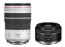 キヤノン「RF70-200mm F4 L IS USM」「RF50mm F1.8 STM」