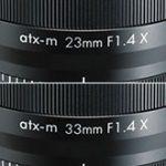 トキナーが富士フイルムXマウント用レンズ「atx-m 23mm F1.4 X」「atx-m 33mm F1.4 X」を正式発表。