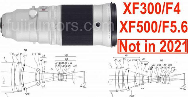 富士フイルムが特許出願しているDOEレンズを使用した「XF300mmF4」「XF500mmF5.6」は、2021年には発売されない!?