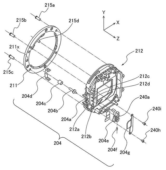 キヤノンのグリップ一体型レンズ交換式カメラの特許