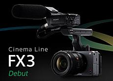 ソニーCinema Lineシリーズ「FX3」