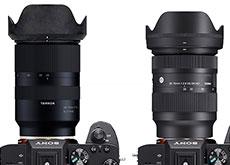 シグマ「28-70mm F2.8 DG DN | Contemporary」とタムロン「28-75mm F/2.8 Di III RXD」のサイズ比較