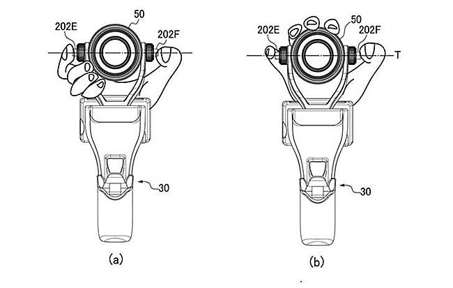 キヤノンの「Osmo Pro/Raw」に似たグリップ一体型レンズ交換式カメラの特許