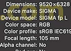 シグマ「SIGMA fp L」は、やはり6000万画素センサーを搭載する模様。