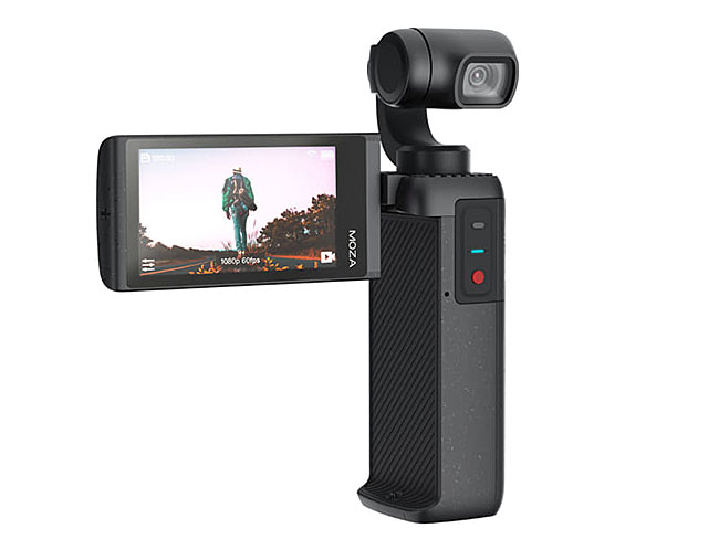 タッチパネル液晶搭載のジンバル一体型カメラ「MOIN Camera」