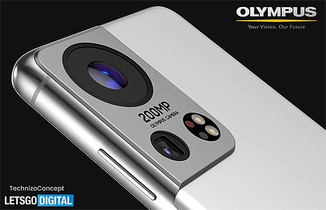 オリンパスのカメラを搭載したサムスンのスマホのレンダリング画像