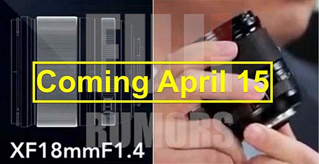 富士フイルムが「XF18mmF1.4」を4月15日に発表する!?