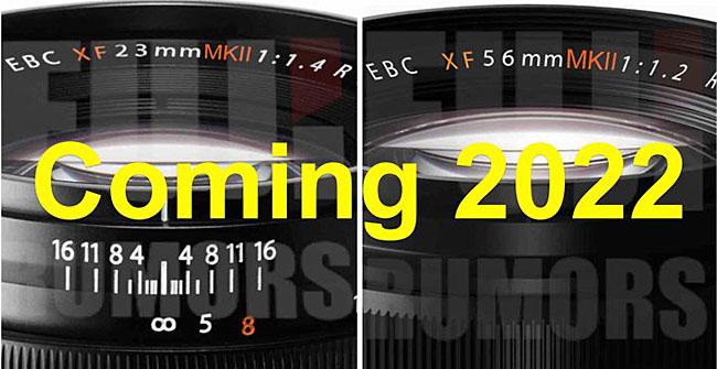 富士フイルムから「XF23mmF1.4 MKII」と「XF56mmF1.2 MKII」が2022年に登場する!?