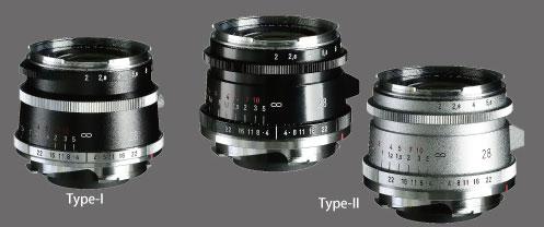 フォクトレンダー「ULTRON Vintage Line 28mm F2 Aspherical Type I VM」と「ULTRON Vintage Line 28mm F2 Aspherical Type II VM」