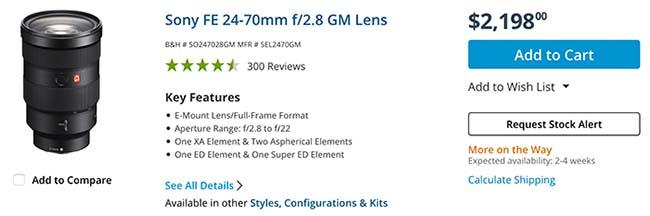 ソニーから次に登場するのは「FE 24-70mm F2.8 GM」「FE 70-200mm F2.8 GM OSS」の後継レンズ!?かなりコンパクト化される!?