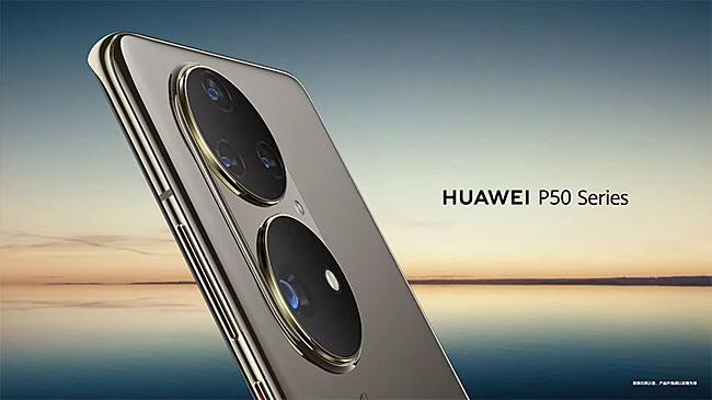 ファーウェイが「HUAWEI P50」の製品画像を公開。カメラがかなり特徴的なデザインになっている模様。