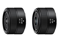 ニコンが小型軽量単焦点Zマウントレンズ「NIKKOR Z 28mm f/2.8」「NIKKOR Z 40mm f/2」を開発発表。