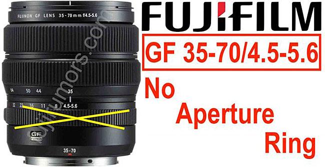 富士フイルムの新しいGFX用ズームレンズ「GF35-70mmF4.5-5.6」には、絞りリングが搭載されない!?