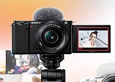 ソニーのVlog撮影向けレンズ交換式EマウントAPS-C機VLOGCAM「ZV-E10」