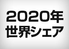 2020年のデジカメとCMOSセンサーの世界シェアランキング。デジカメはキヤノン、CMOSセンサーはソニーが独走の模様。