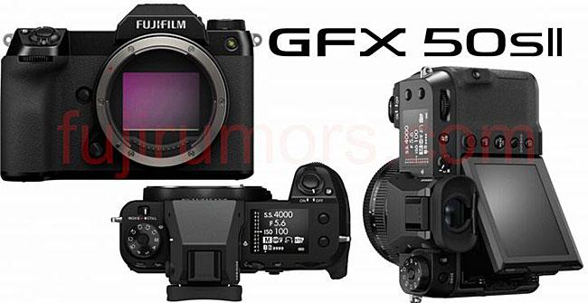 富士フイルム「GFX50S II」のボディは、ボタン、ファインダー、ダイヤルなども含め「GFX100S」と全く同じになる!?