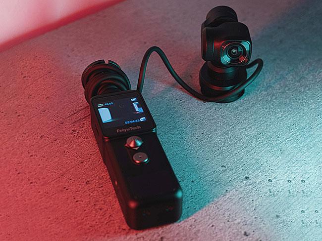 カメラとモニターが分離するポケットサイズのジンバルカメラ「Feiyu Pocket 2S (フェイユーポケット2S)」