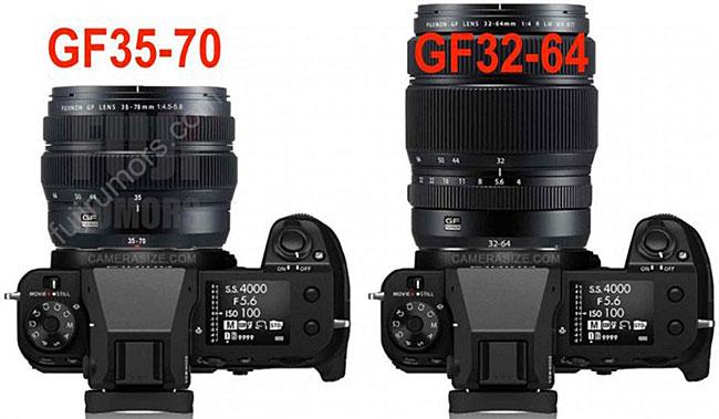 富士フイルムの新しいGFX用ズームレンズ「GF35-70mmF4.5-5.6 WR」は「GF32-64mmF4 R LM WR(重量875g)」の半分以下の重さになる!?