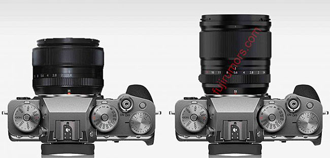 富士フイルムの新レンズ「XF33mmF1.4 R LM WR」と「XF35mmF1.4 R」のサイズ比較!?