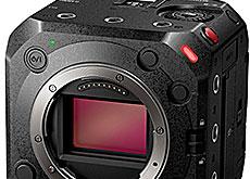 パナソニックのボックススタイル6Kミラーレスカメラ「LUMIX BS1H」