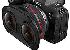 キヤノンの180度VR撮影用ステレオ魚眼レンズ「RF5.2mm F2.8 L Dual Fisheye」